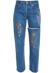Good For Nothing Emb Embroidered Jeans Blue