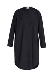 Acne Studios Esloane Oversized Cotton Shirtdress Navy