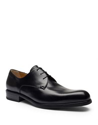 A. Testoni Leather Derby Shoes Nero