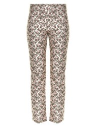 Giambattista Valli Flower Bud Jacquard Cropped Trousers