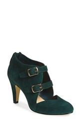Bella Vita Women's 'Niko' Water Resistant Double Buckle Pump Emerald Suede