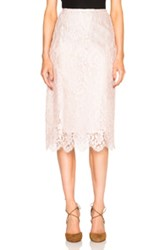 Tome Lace Pencil Skirt In Pink
