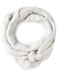 Giorgio Armani Ribbed Scarf Nude And Neutrals