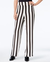 Bar Iii Striped Pull On Pants Only At Macy's Black Combo