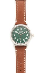Shinola The Runwell 41Mm Watch Tan Green