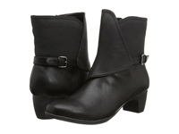 Softwalk Puddles Black Smooth Man Made Leather Women's Boots