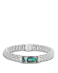 Lagos Sterling Silver Maya Abalone Doublet Rope Bracelet Blue