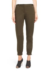 Nordstrom Women's Collection Zip Pocket Sateen Ankle Pants