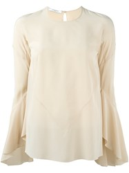 Givenchy Bell Sleeve Blouse Nude And Neutrals