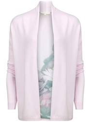 Ted Baker Wendea Floral Panel Wrap Cardigan Pale Pink