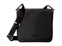 Michael Kors Jet Set Medium Flap Messenger Black Messenger Bags