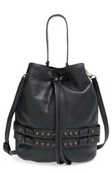 She Lo 'Aim High' Perforated Drawstring Bag Black Perforated