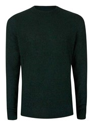 Topman Green Boucle Textured Slim Fit Sweater
