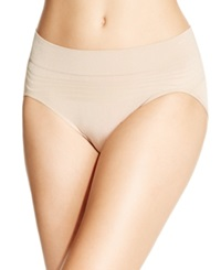 Warner's No Pinches No Problems Striped High Cut Brief Rt5501p Toasted Almond