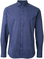 Kent And Curwen Patterned Long Sleeve Shirt Black