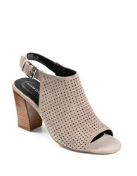 Me Too Meridia Perforated Suede Sandals Grey