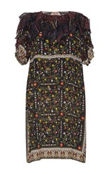 N 21 No. Almira Floral Dress Black Red Yellow