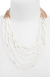 Women's Panacea Seed Bead Multistrand Necklace White