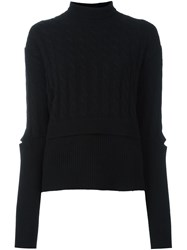 Dorothee Schumacher Cable Knit Jumper Black