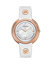 Versace Thea Rose Gold Pvd Watch With White Mother Of Pearl Dial 39Mm