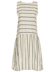 Ace And Jig Cream Cotton Sleeveless Rally Dress Multi