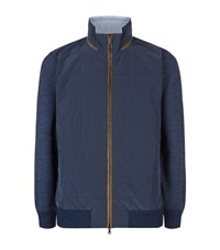 Paul And Shark Quilted Waffle Knit Jacket Male Blue