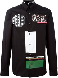 Mcq By Alexander Mcqueen Mixed Print Shirt Black