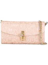 Dolce And Gabbana 'Dolce' Clutch Pink And Purple