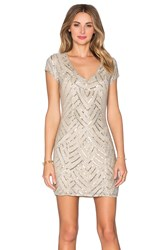 Parker Black Serena Embellished Dress Beige
