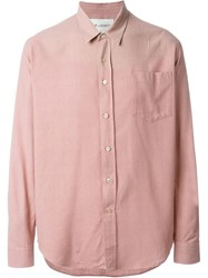 Our Legacy Patch Pocket Shirt Pink And Purple