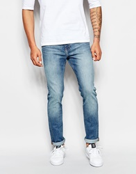 Weekday Jeans Friday Skinny Fit Cotton Blue Mid Wash Cottonblue