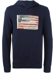 Polo Ralph Lauren Flag Patch Hoodie Blue