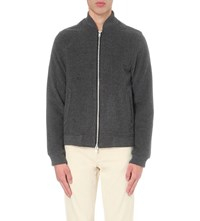 Oliver Spencer Bermondsey Wool Blend Bomber Jacket Berkeley Grey