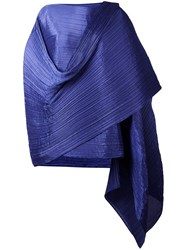 Issey Miyake Pleats Please By Pleated Scarf Pink Purple