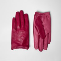 River Island Womens Red Clashing Leather Driving Gloves