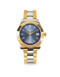 Salvatore Ferragamo Ferragamo 1898 Gold Ip And Silver Tone Stainless Steel Men's Watch