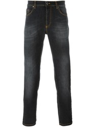 Versace Stonewashed Straight Fit Jeans Blue