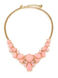 Kate Spade Color Pop Statement Necklace Gold Light Pink