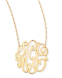 Jennifer Zeuner Jewelry Jennifer Zeuner 18K Gold Vermeil Medium 3 Letter Monogram Necklace