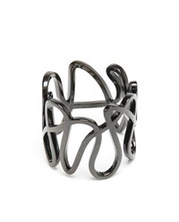 Repossi 18K Black Gold White Noise Ring Black White Polished Gold