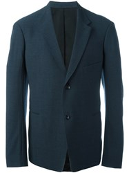 Christophe Lemaire Single Breasted Blazer Blue