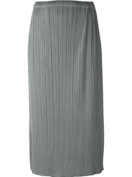 Pleats Please By Issey Miyake Fine Pleated Skirt Grey