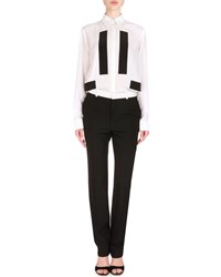 Givenchy Contrast Trimmed Skinny Fit Trousers Women's