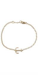 Jennifer Zeuner Jewelry Mini Anchor Charm Bracelet Gold