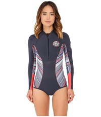 Rip Curl G Bomb 1Mm L S Spring Suit High Cut Navy Blue Women's Wetsuits One Piece