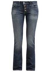 Mavi Jeans Mavi Olivia Straight Leg Jeans Green Shaded Stretch Blue Denim