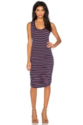 Bobi Double Stripe Jersey Scoop Neck Tank Dress Navy