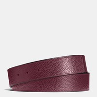 Coach Cut To Size Reversible Leather Belt Strap Burgundy Black