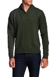 Singer Sargent Long Sleeve Shawl Collar Pullover Sweater Green