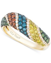 Le Vian Exotics Multi Colored Diamond Ring 1 Ct. T.W. In 14K Gold